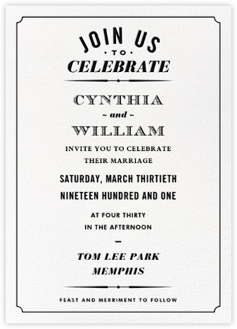 Seal the Date (Invitation) - Black - Paperless Post - General Entertaining Invitations