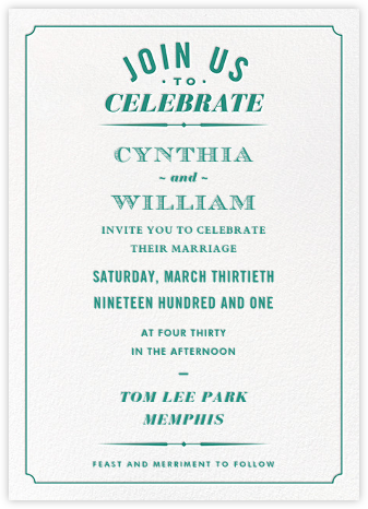 Seal the Date (Invitation) - Teal - Paperless Post -