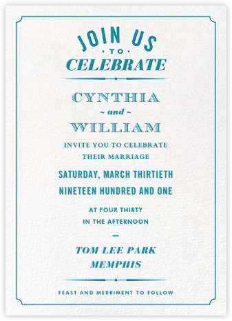 Seal the Date (Invitation) - Opal - Paperless Post - Wedding Invitations