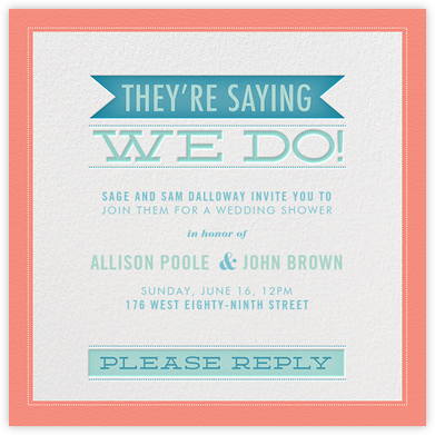 They're Saying We Do - Crate & Barrel - Bridal shower invitations