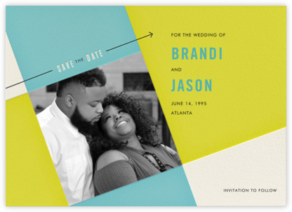 Cinescope - Crate & Barrel - Modern save the dates