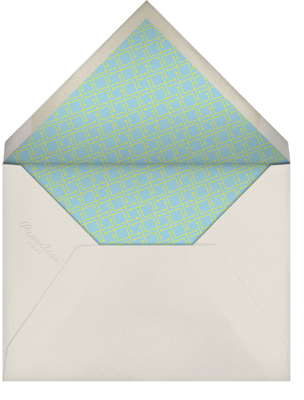 Cinescope - Crate & Barrel - Party save the dates - envelope back