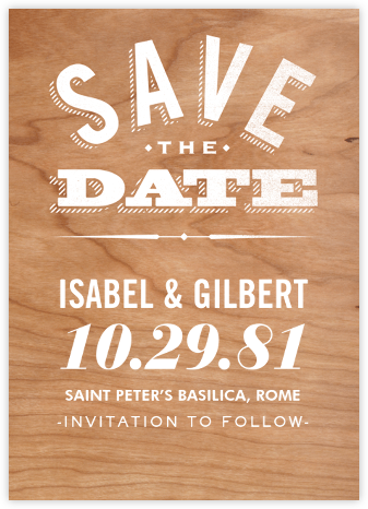 Wood You Be Mine (Save the Date) - Paperless Post - Destination