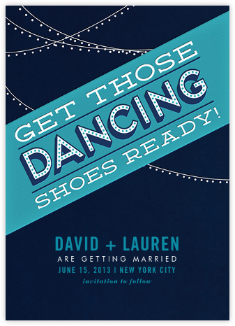 Those Dancing Shoes - Crate & Barrel - Save the dates