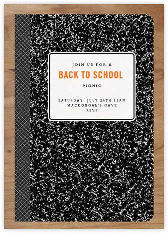 Composition Book - Paperless Post - Back-to-school invitations