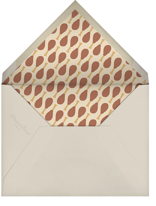 A Side of Delicious - Crate & Barrel - Thanksgiving - envelope back