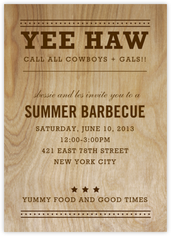 Yee Haw - Dots - Paper + Cup - Barbecue and picnic invitations