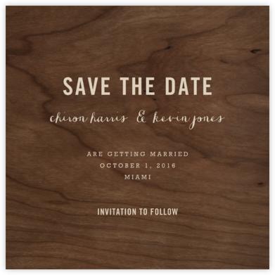 Wood Grain Dark - Square - Paperless Post -