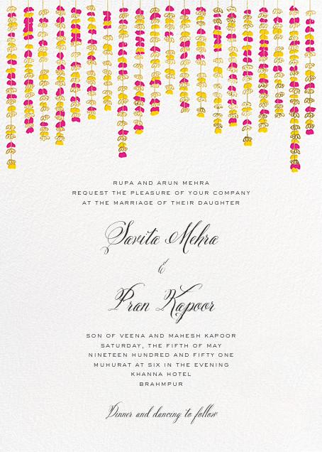 Under the Toran (Invitation) - Bright Pink - Paperless Post - Wedding invitations