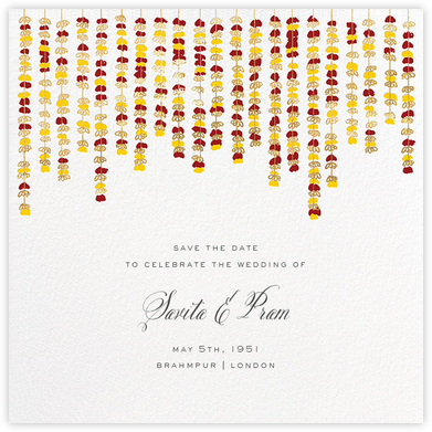 Under the Toran (Save the Date) - Crimson - Paperless Post - Save the dates