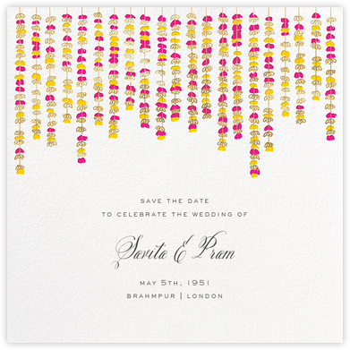 Under the Toran (Save the Date) - Bright Pink - Paperless Post - Destination