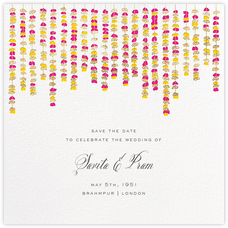 Under the Toran (Save the Date) - Bright Pink