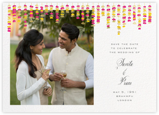 Under the Toran (Photo Save the Date) - Bright Pink