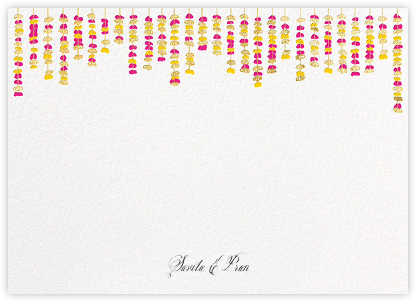 Under the Toran (Stationery) - Bright Pink - Paperless Post - Personalized Stationery