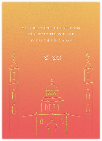Masjid at Dusk (Greeting) - Paperless Post - Ramadan and Eid Cards