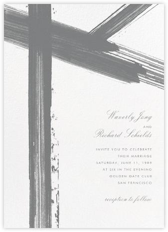Gesso II (Invitation) - Gray/Ivory - Paperless Post - Wedding Invitations
