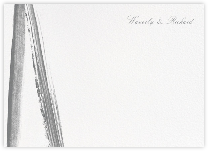 Gesso II (Stationery) - Gray/Ivory - Paperless Post - Personalized Stationery