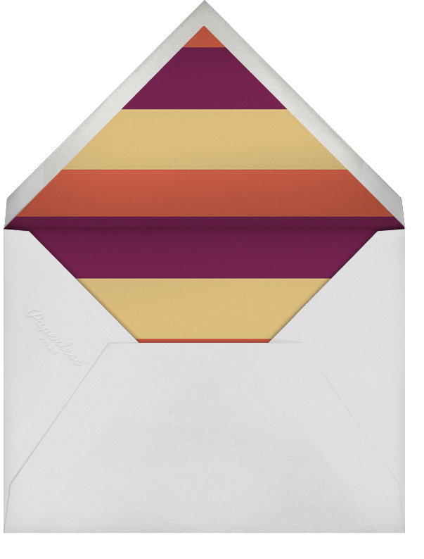 Pomegranate Perimeter (Greeting) - Paperless Post - Rosh Hashanah - envelope back
