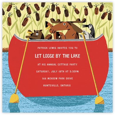 Canoe Crew - Paperless Post - Summer Party Invitations
