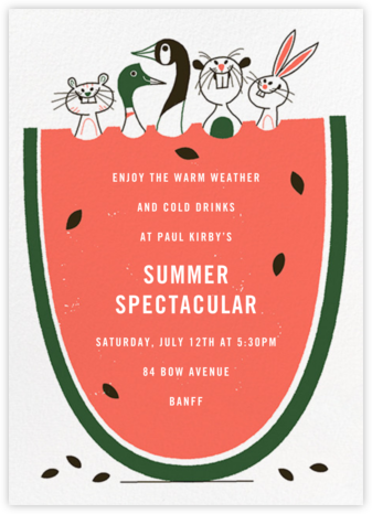 Melon Ballers - Paperless Post - Summer Party Invitations