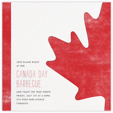 O Canada! - Paperless Post - Canada Day