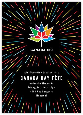 Canada 150 - Black - Paperless Post -