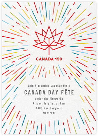 Canada 150 - White - Paperless Post - Canada Day