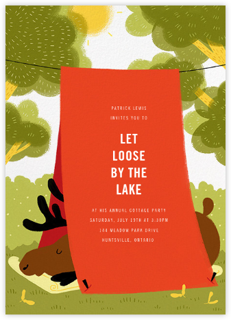 Cottage Country Retreat - Paperless Post - Summer Party Invitations
