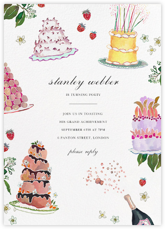 Baker's Banquet - Happy Menocal - Adult Birthday Invitations