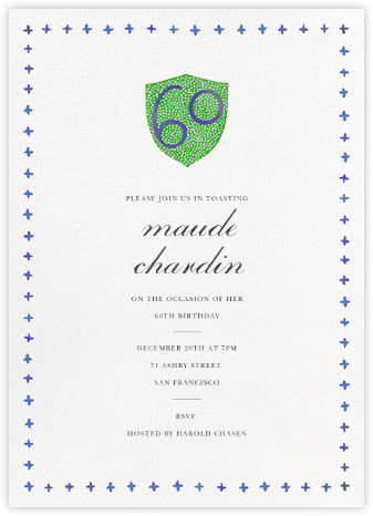 Birthday Crest (Sixty) - Happy Menocal - Invitations