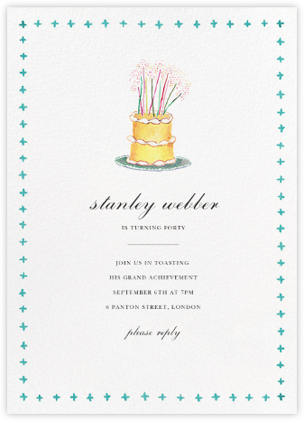 Birthday Topper - Happy Menocal - Adult Birthday Invitations