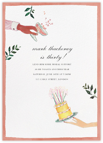 Dessert Course - Happy Menocal - Adult Birthday Invitations