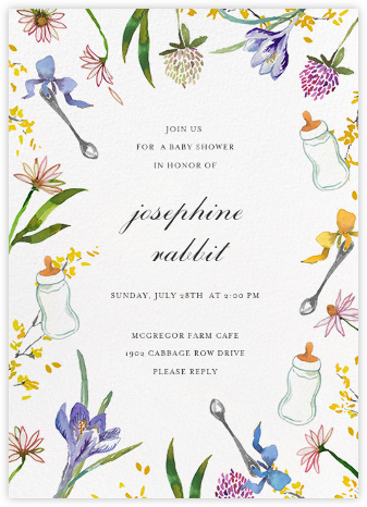 Nursery Perennials - Happy Menocal - Baby Shower Invitations