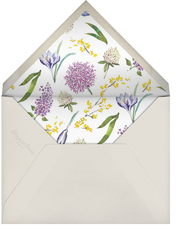 Nursery Perennials - Happy Menocal - Baby shower - envelope back