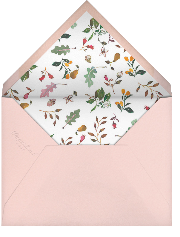 Woodland Tails - Happy Menocal - Woodland baby shower invitations - envelope back