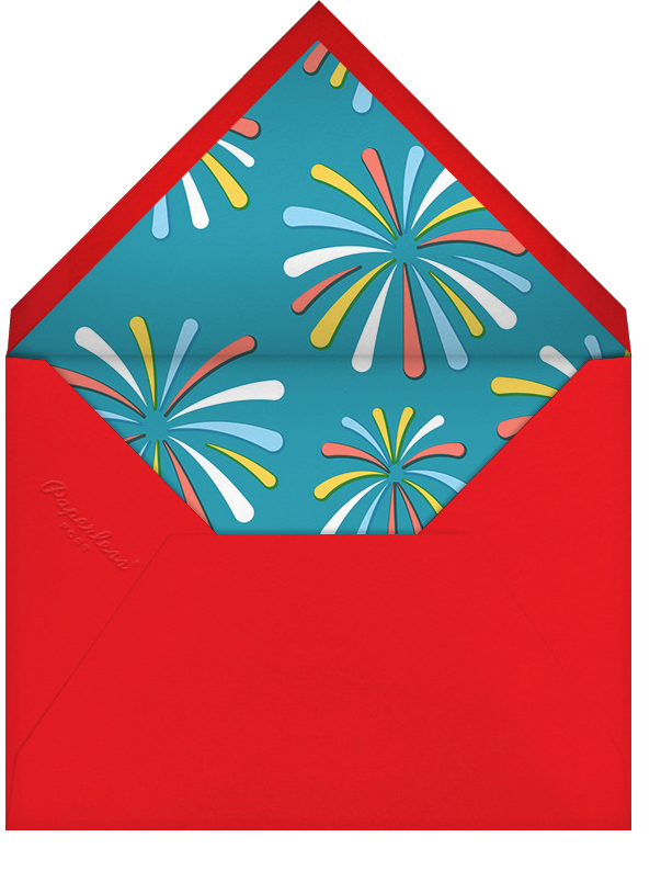 Flags and Fanfare - Paperless Post - Canada Day - envelope back