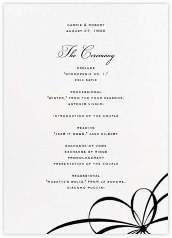 Belle Boulevard (Program) - kate spade new york - Wedding menus and programs - available in paper