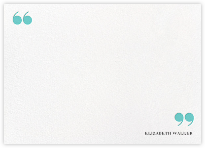Quotes and Monogram - Aqua - kate spade new york - Personalized Stationery