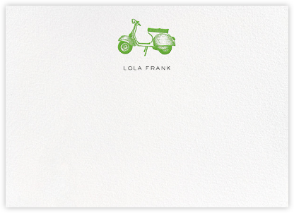 Vespa - Green - kate spade new york - Personalized Stationery