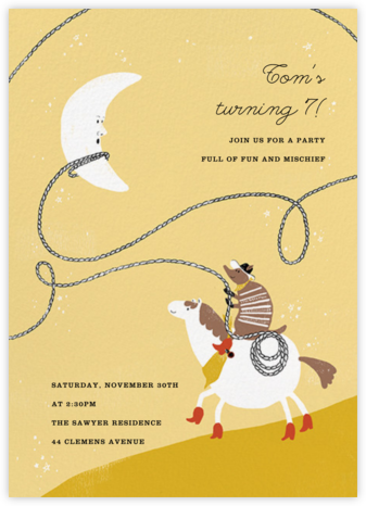 High Moon - Paperless Post - Online Kids' Birthday Invitations