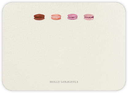 Macarons Quartet - Pink - Felix Doolittle - Personalized Stationery