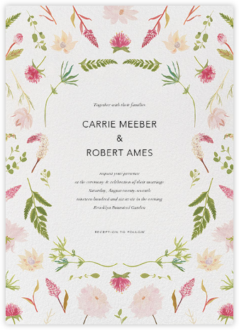 Fleurs de Printemps - Paperless Post - Wedding Invitations