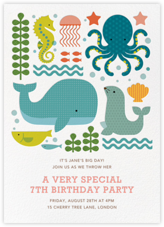 Ocean Parade (Inset) - Petit Collage - Online Kids' Birthday Invitations