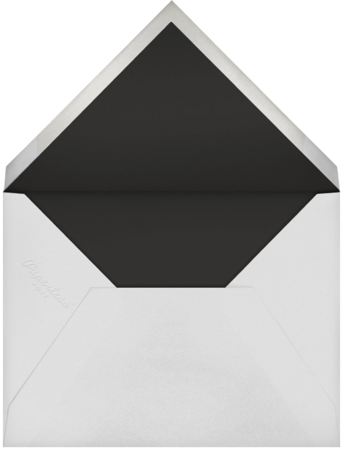 Falling Poppies II (Stationery) - White/Navy - Oscar de la Renta - Envelope