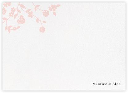 Floral Trellis II (Stationery) - Pink - Oscar de la Renta -