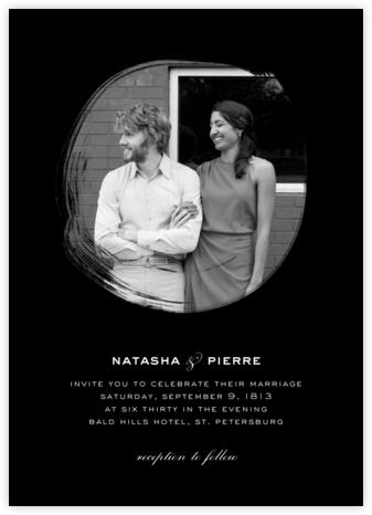 Painted Circle (Invitation) - Black - Paperless Post - Modern wedding invitations