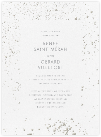 Splatter Cloth I (Invitation) - Platinum - Paperless Post - Wedding invitations