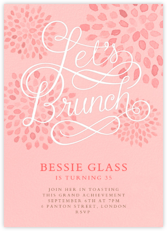 Let's Brunch - Crate & Barrel - Adult birthday invitations