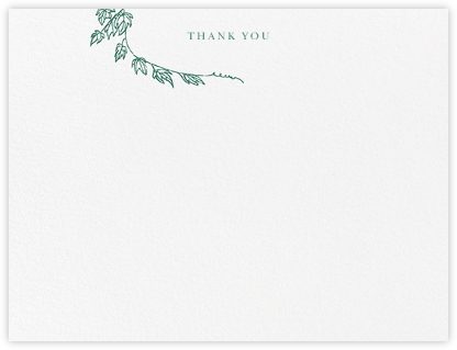 Gwendolyn I (Thank You) - Hunter Green - Paperless Post - Wedding thank you notes