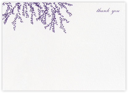 Forsythia (Stationery) - Mulberry - Paperless Post - Wedding thank you cards